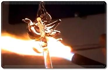 proses pembuatan kerajinan kaca pyrex