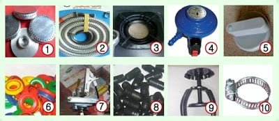 spare part alat kompor gas