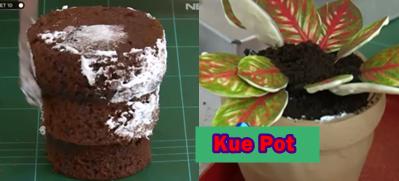 kue pot bunga